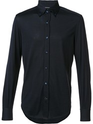 Brunello Cucinelli Button Down Collar Shirt Black
