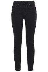 Vince. Woman High Rise Skinny Jeans Black