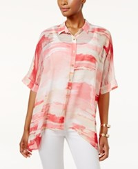 Jm Collection Petite Printed Dolman Sleeve Blouse Only At Macy's Perfect Rose Sunrise