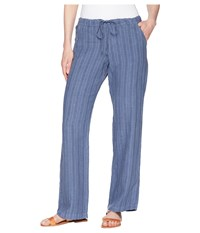 Allen Allen Stripe Long Pants Sailor Blue Casual Pants