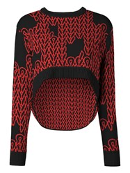 Opening Ceremony Elliptical Jumper Red