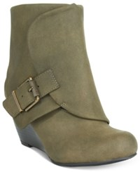 American Rag Coreene Cuffed Wedge Booties Only At Macy's Women's Shoes Olive