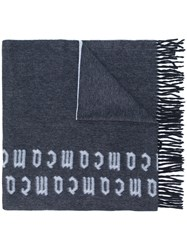 Mcq By Alexander Mcqueen Repeat Logo Scarf Blue