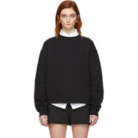 Mcq By Alexander Mcqueen Black Swallow Badge Slouch Sweatshirt