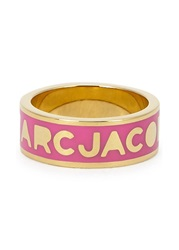 Marc By Marc Jacobs Logo Disc O Pink Enamel Ring