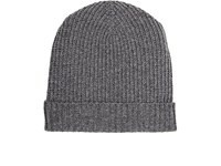 Barneys New York Men's Cashmere Rib Knit Hat Grey