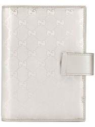 Gucci Gg Document Holder Silver