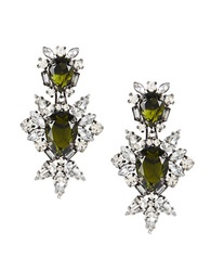 Bcbgmaxazria Stone Drop Clip On Earrings Hematite