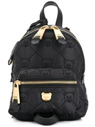 Moschino Small Teddy Quilted Backpack Black