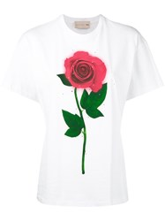 Christopher Kane 'Beauty And The Beast' T Shirt Women Organic Cotton M White