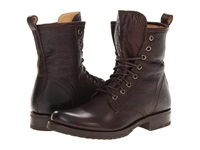Frye Veronica Combat Dark Brown Soft Vintage Leather Women's Lace Up Boots
