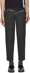 Kolor Grey Wool Panelled Trousers