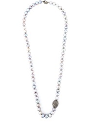 Loree Rodkin Gold And Diamond Lariat Necklace Grey