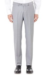 Ermenegildo Zegna Wool Twill Trousers Grey