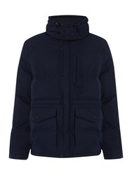 Army And Navy Benham Padded Parka Jacket Navy
