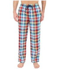 Tommy Bahama Seersucker Woven Yarn Dye Plaid Pants Plaid Multi Men's Pajama Black