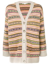 Stella Mccartney Intarsia Cardigan Multicolour