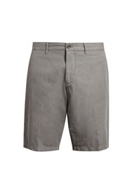 J.W.Brine Free Donnie Cotton And Linen Blend Chino Shorts Grey