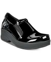 Easy Street Shoes Works By Appreciate Slip Resistant Clogs Women's Black Patent