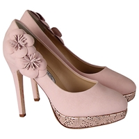 Rainbow Club Cupcake Leather Court Heels Rose Pink