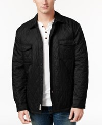 Weatherproof Vintage Men's Big And Tall Shirt Jacket Classic Fit Black