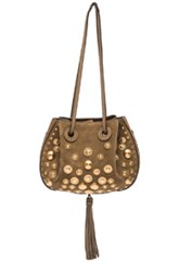 Chloe Chloe Small Studded Inez Suede Bag In Gray