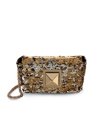 Sonia Rykiel Gold And Silver Sequin Le Copain Shoulder Bag