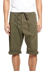 Vince Men's Stretch Woven Drawstring Shorts Fatigue