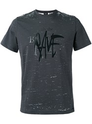 Diesel Distressed Printed T Shirt Black