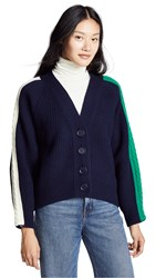 Sjyp Cable Tape Cardigan Navy