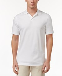 Tasso Elba Men's Supima Blend Cotton Polo Only At Macy's White On White