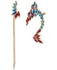 Betsey Johnson Gold Tone Multi Colored Faceted Stone Ear Cuff Set