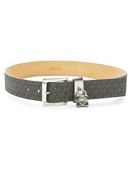 Michael Michael Kors Textured Faux Leather Belt Chocolate