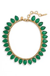 Loren Hope Women's 'Sylvia' Crystal Collar Necklace Emerald