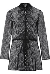 Agent Provocateur Laretta Embroidered Lace Robe Black