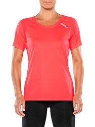 2Xu Xvent Short Sleeve Top Pink