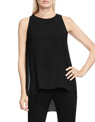 Vince Camuto Petite Sleeveless Solid Top Black