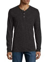 Ag Adriano Goldschmied Long Sleeve Henley T Shirt Tobacco
