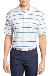 Men's Bobby Jones 'Frame' Stripe Mercerized Golf Polo White