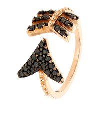 Bee Goddess Black Diamond Eros Midi Ring Female