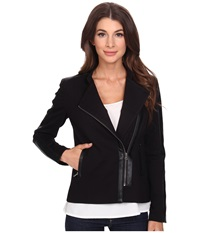 Nydj Ponte Moto Jacket Black Women's Jacket