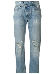 Rag And Bone Jean Wicked Cropped Jeans Women Cotton 28 Blue