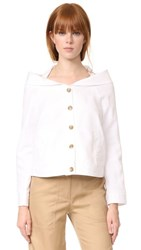 Robert Rodriguez Portrait Collar Jacket White