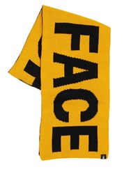 The North Face Reversible Logo Acrylic Scarf Yellow