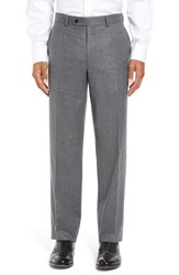 David Donahue Men's Big And Tall 'Ryan' Classic Fit Trousers Grey
