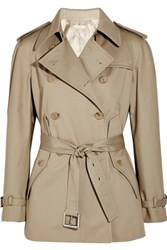 Michael Kors Collection Cotton Trench Jacket Beige