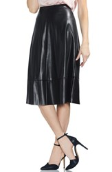 Vince Camuto Faux Leather Skirt Rich Black