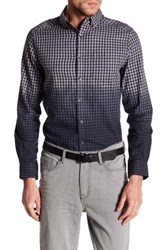 Kenneth Cole Long Sleeve Slim Fit Ombre Gingham Shirt Blue