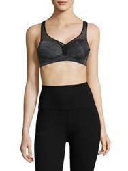 Le Mystere Heathered Padded Sports Bra Charcoal