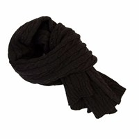 40 Colori Charcoal Solid Thick Wool Scarf Grey
